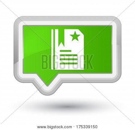 Bookmark Icon Prime Soft Green Banner Button