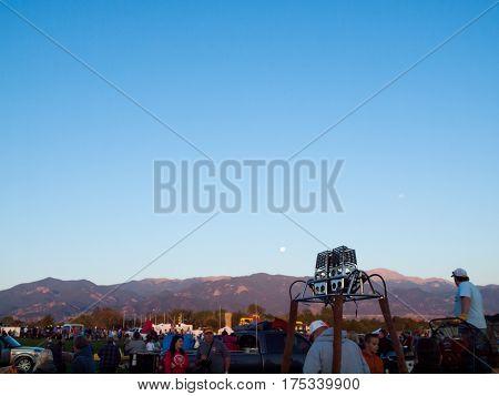 Colorado Springs Colorado-September 1 2012: The 36th annual Colorado Balloon Classic and Colorado's largest Air Show.