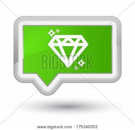 Diamond Icon Prime Soft Green Banner Button