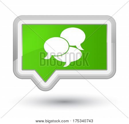 Comments Icon Prime Soft Green Banner Button