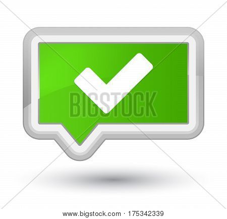 Validate Icon Prime Soft Green Banner Button