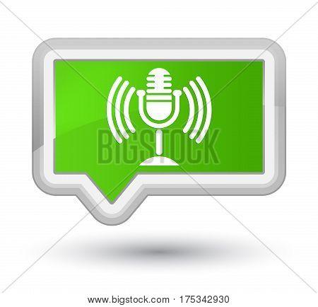 Mic Icon Prime Soft Green Banner Button