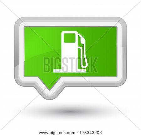Fuel Dispenser Icon Prime Soft Green Banner Button