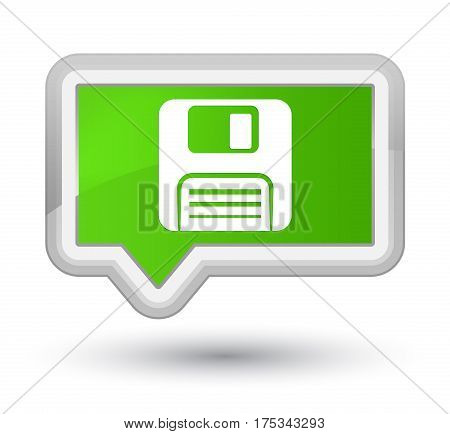 Floppy Disk Icon Prime Soft Green Banner Button