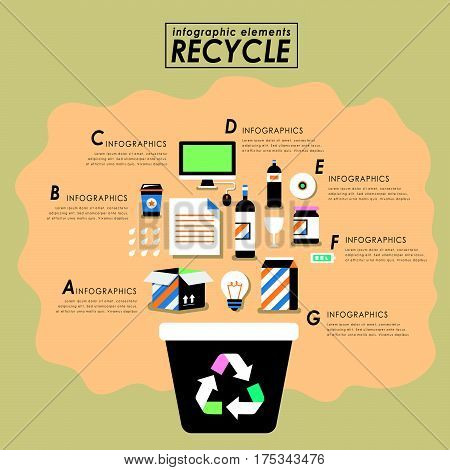 Recycling Flat Design