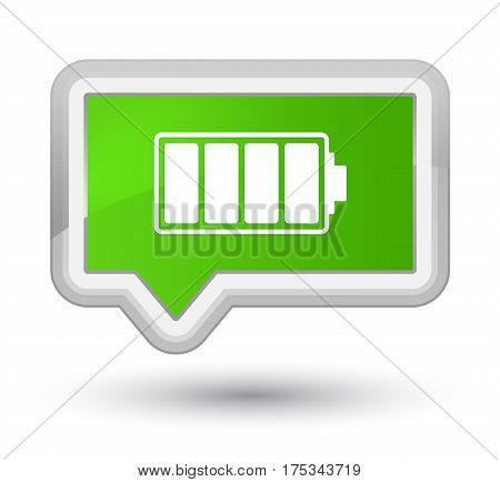 Battery Icon Prime Soft Green Banner Button
