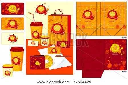Office elements and accessories. Vector business set of secretarial things and supplies. Workplace with packet and folder. Collection _5
