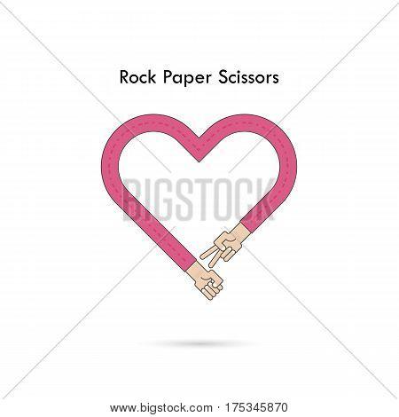 Rock Paper Scissors for it sign.Hand of businessmans with Rock Paper Scissor hand game. How to play arm gestures. Vector illustration