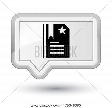 Bookmark Icon Prime White Banner Button