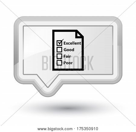 Questionnaire Icon Prime White Banner Button