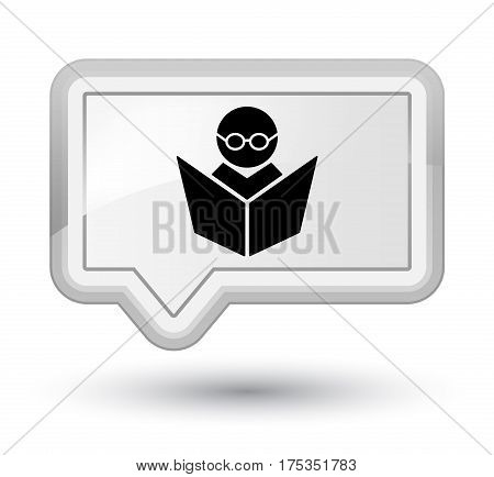 Elearning Icon Prime White Banner Button