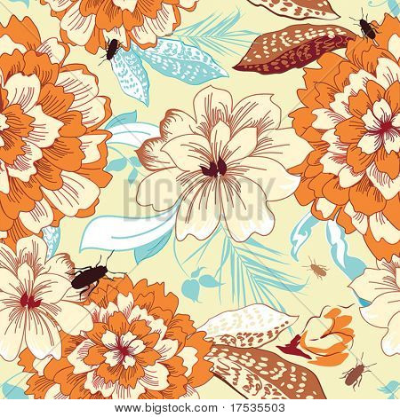 Vintage Abstract Elegance floral seamless pattern