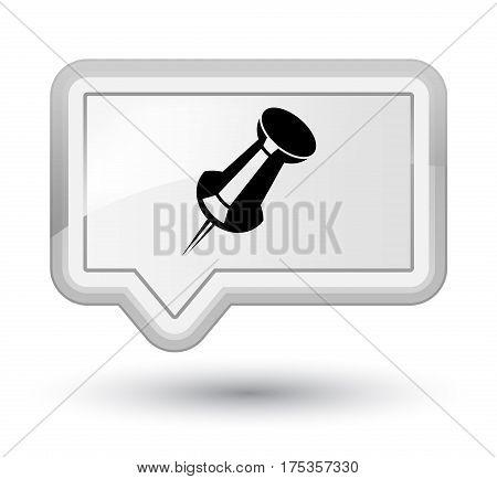 Push Pin Icon Prime White Banner Button