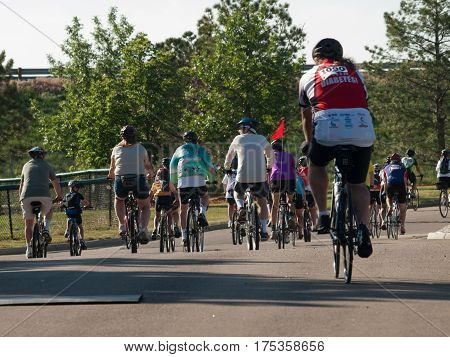 Cyclists Race