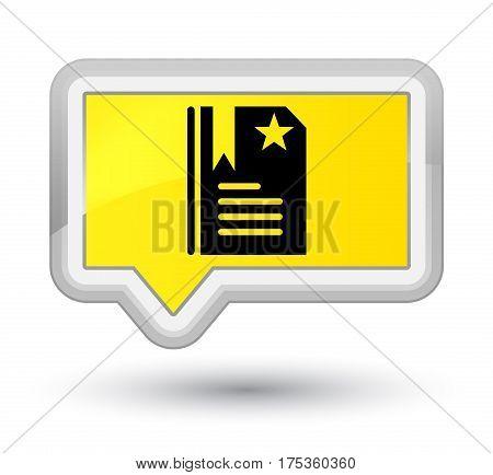 Bookmark Icon Prime Yellow Banner Button
