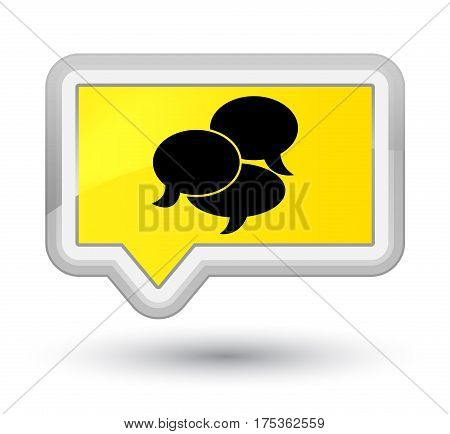Comments Icon Prime Yellow Banner Button