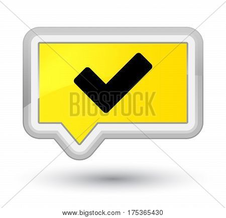 Validate Icon Prime Yellow Banner Button