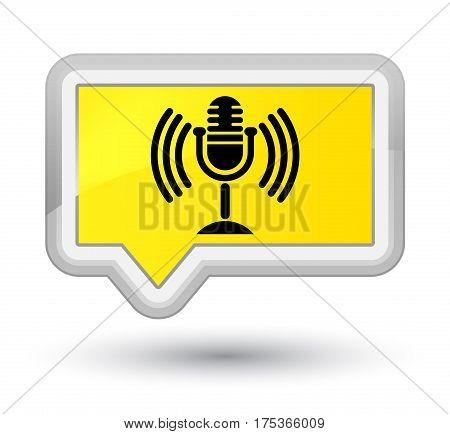Mic Icon Prime Yellow Banner Button