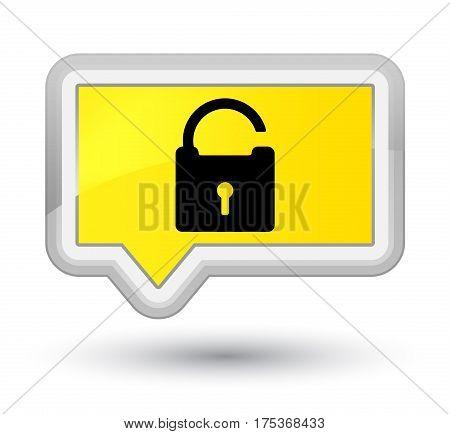 Unlock Icon Prime Yellow Banner Button