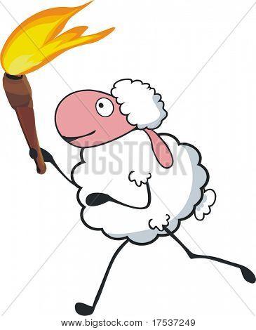 antorcha transporte de ovejas