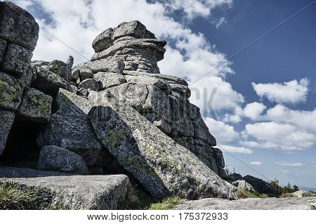 A group of rocks in the Giant Mountains Poland