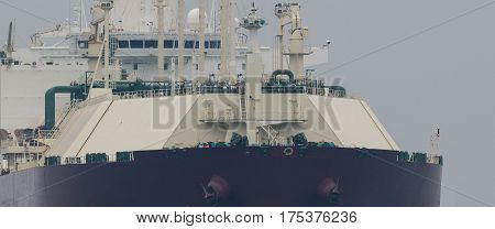 GRAT LNG TANKER - Tanker sailing from Qatar with the supply of natural gas