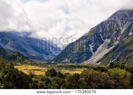 Hooker Valley in the Mount Cook Range - Aoraki, South Island, New Zealand