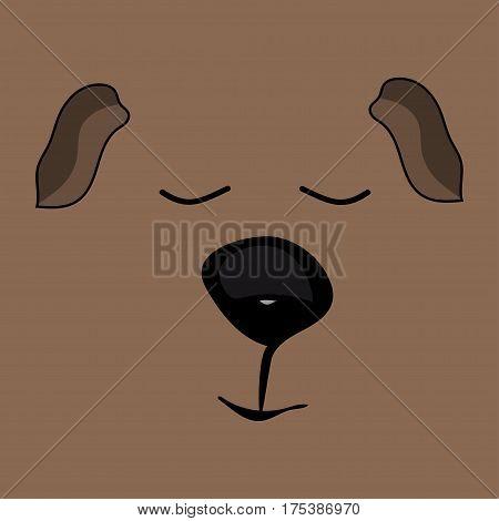 Guinea pig sleep funny cute head pets. Vector illustration.