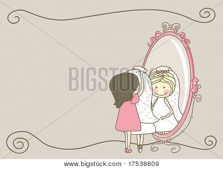 wedding set - bride and bridesmaid