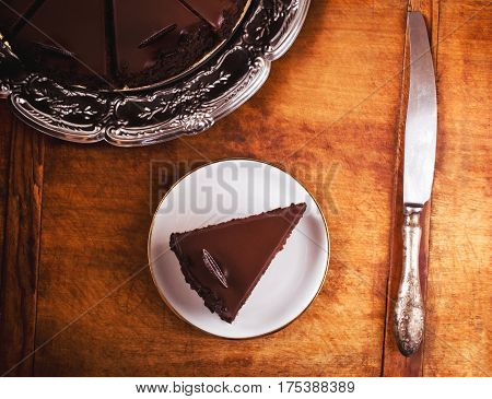 Perfect moist chocolate cake, ready to eat