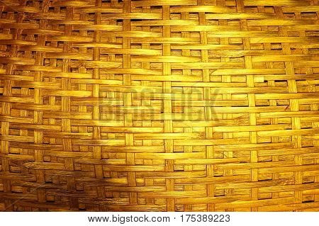 Woven dark gold background for design and for background