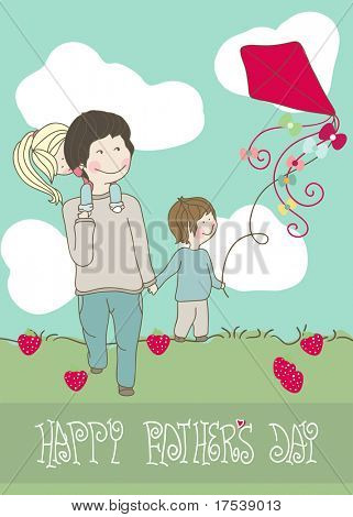 happy father`s day greeting card