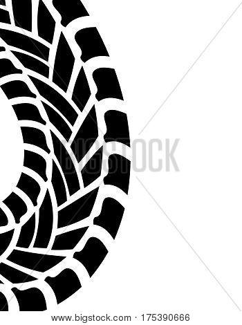 tire print special vector illustration, eps10 design
