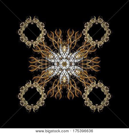 Elegant vector classic pattern. Abstract background with repeating elements. And golden pattern.