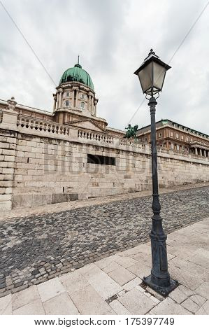 Budapest Royal Castle. View of the palace closeup. Hungary