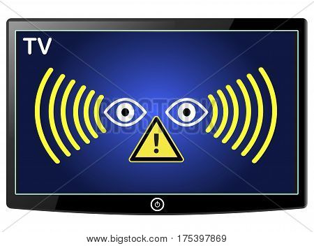 Warning Smart TV Spy. New television sets can watch consumer viewing habits like Big Brother