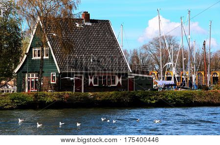 High Dynamic Range Picture Of Architecture In Amsterdam