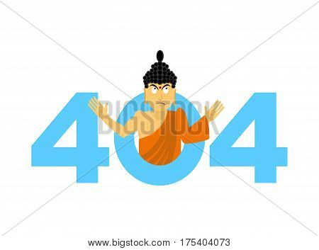 Error 404. Surprisingly Buddha. Page Not Found Template For Website. Page Lost And Found Message