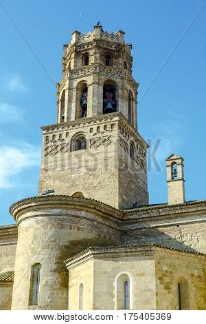 Cathedral of Santa Maria del Romeral Monzon Huesca Spain