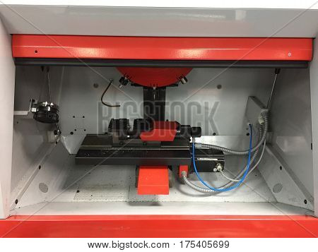 Steel metal automotive parts cutting machine process by CNC in workshop