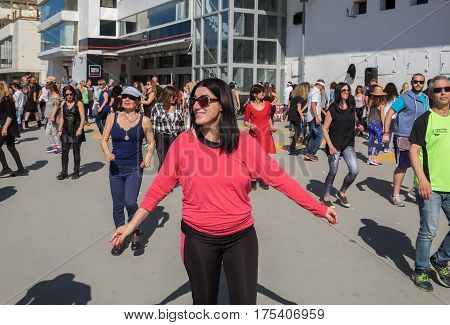 People Dancing At Tel-aviv Gordon Beach