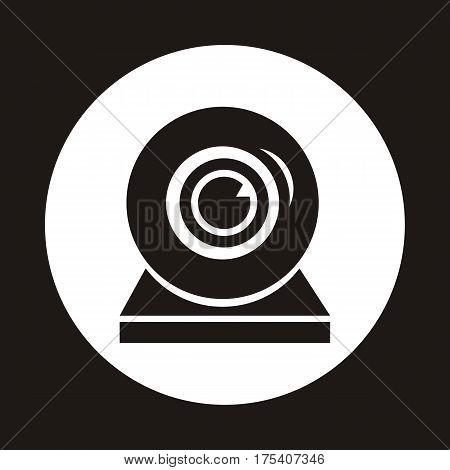 Webcam single icon. Web video chat symbol. Camera chat. Vector