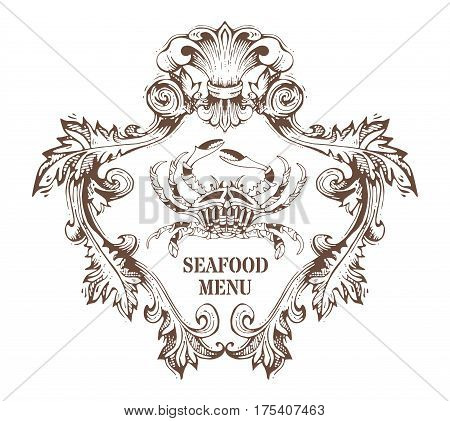 Vector Seafood Menu Template.