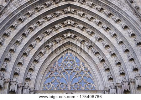 Details of The Cathedral of the Holy Cross and Saint Eulalia