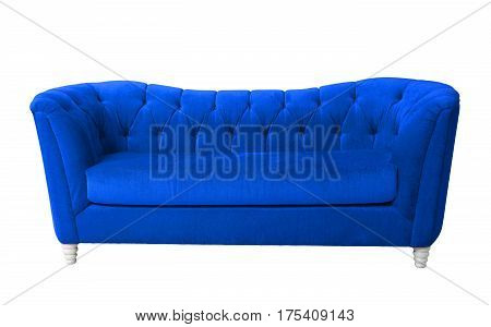 A bky blue furniture isolated on white with clipping path