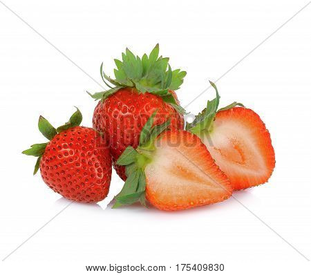 strawberry isolated on white background sweet berry fruit