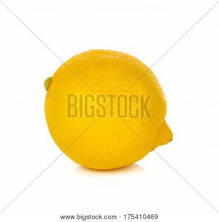 Lemon isolated on white background fruit citrus fresh food