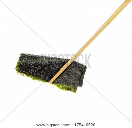 dried seaweed Isolated on white background food healthy