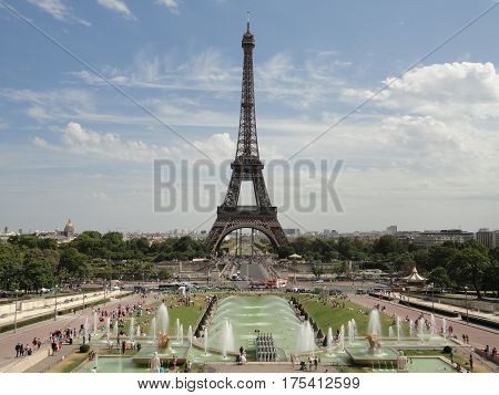 Eiffel Tower from the Champ De Mars - Paris, France
