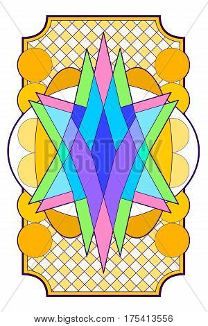 Colorful full page design for background, card back, or cover